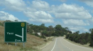 Image of the Yass Valley Road Sign