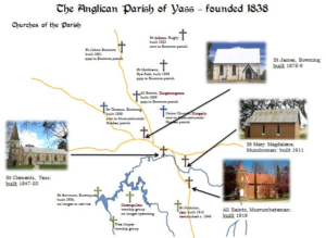 Map of Yass Valley Anglican Parishes