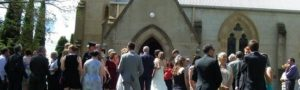 Image of a Wedding at St Clements, Outside - Yass Valley Anglican Churches