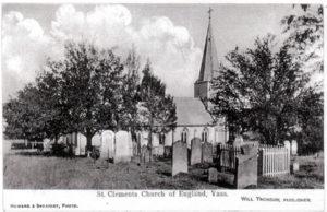 Photo showing graveyard c 1950s