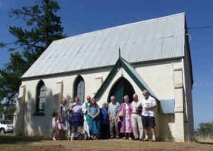 Image of the congregation at a Wedding at St James Bowning - Yass Valley Anglican Churches
