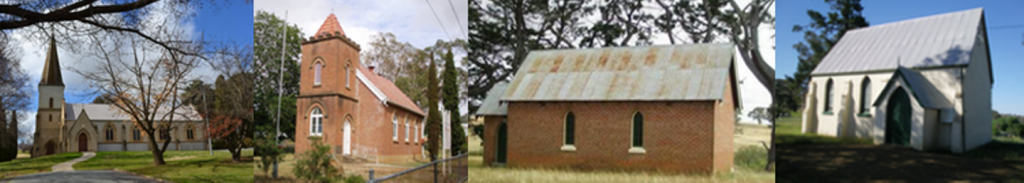Image of the four key churches where you can worship with us at Yass Valley Anglican Churches